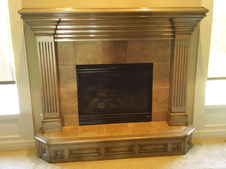 Fireplace Mantel Ideas | Faux Painting | Photos