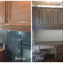 Before and After Faux Painting, Macaluso Custom Desig, 203 NE 70th Terrace, Gladstone MO 64118